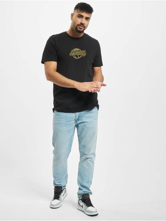 New Era T-Shirt NBA Chain Stitch Los Angeles Lakers noir