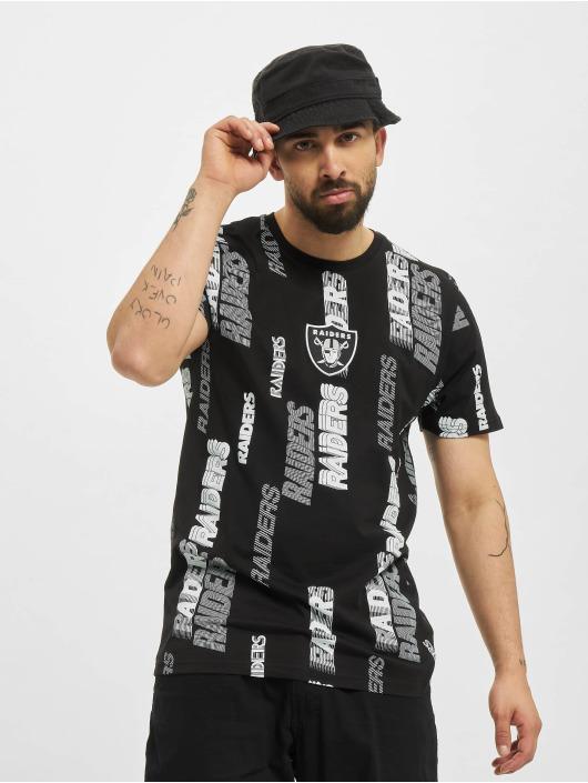 New Era T-Shirt NFL Las Vegas Raiders Retro Sports All Over Print noir