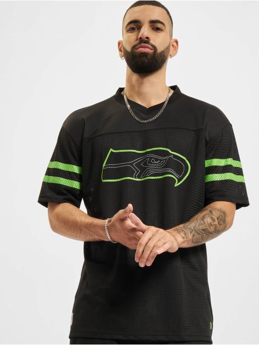 New Era T-Shirt NFL Seattle Seahawks Outline Logo Oversized noir