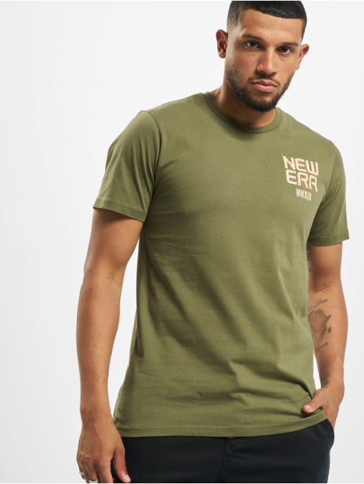New Era T-Shirt World Tour olive