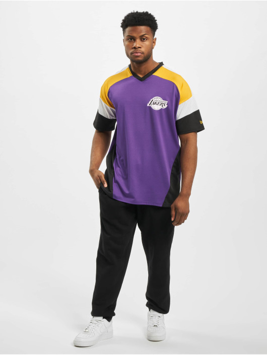 New Era T-Shirt NBA LA Lakers Diagonl Panel Oversized purple