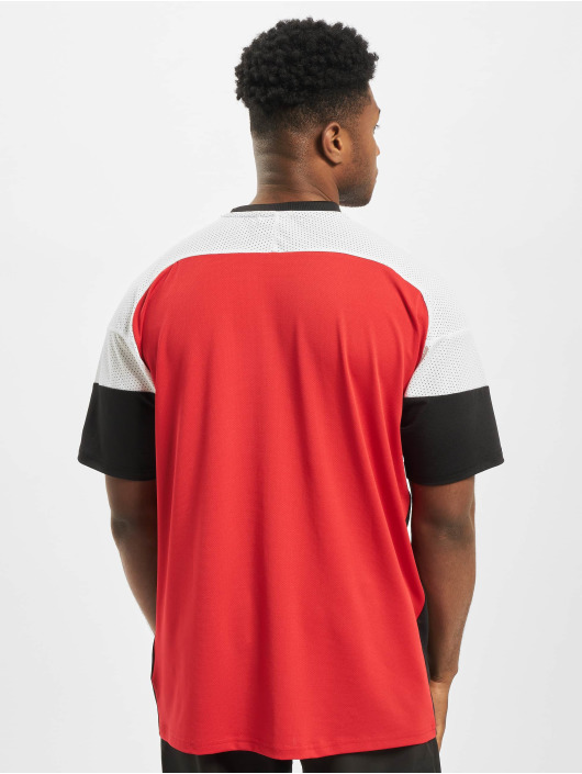 New Era T-Shirt NBA Chicago Bulls Diagonl Panel Oversized red