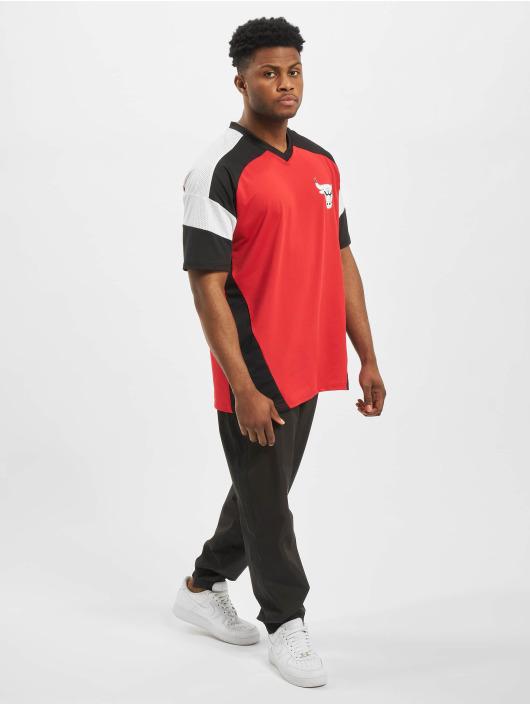New Era T-Shirt NBA Chicago Bulls Diagonl Panel Oversized rot
