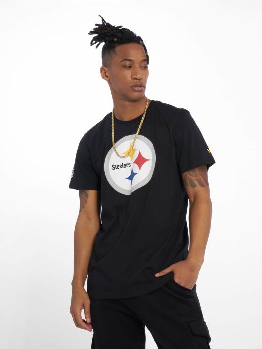 New Era T-Shirt Team Pittsburgh Steelers Logo schwarz