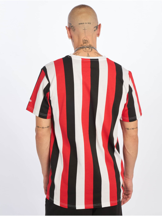 New Era T-Shirt Stripe schwarz