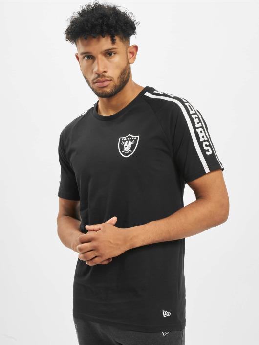 New Era T-Shirt NFL Oakland Raiders Raglan Shoulder Print schwarz
