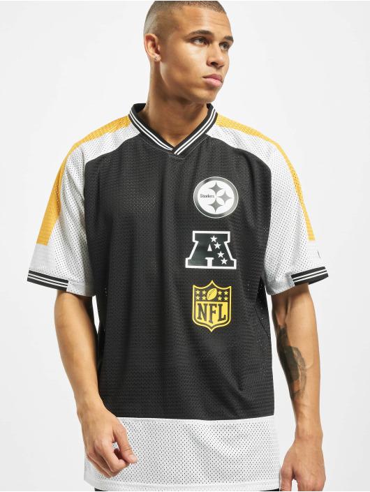 New Era T-Shirt NFL Pittsburgh Steelers Stacked Logo OS schwarz