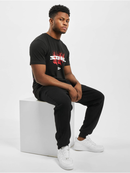 New Era T-Shirt Bootleg Graphic Print schwarz
