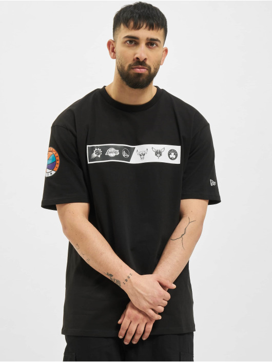 New Era T-Shirt NBA Oversized Logo Eastwest Coast schwarz