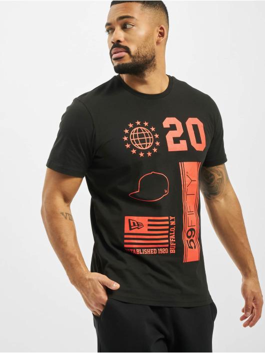 New Era T-shirt Graphic svart