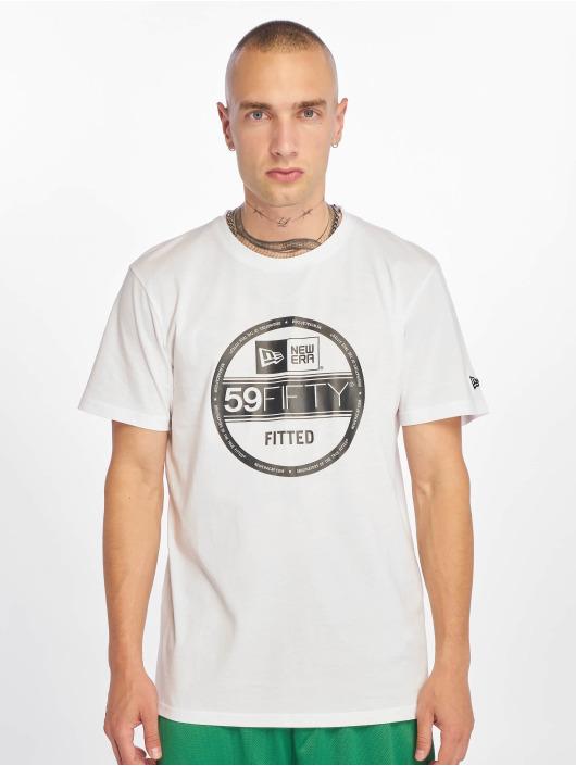 New Era T-Shirt Visor Sticker weiß