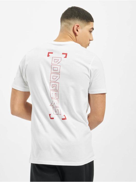 New Era T-Shirt MLB LA Dodgers Blue Print Graphic weiß