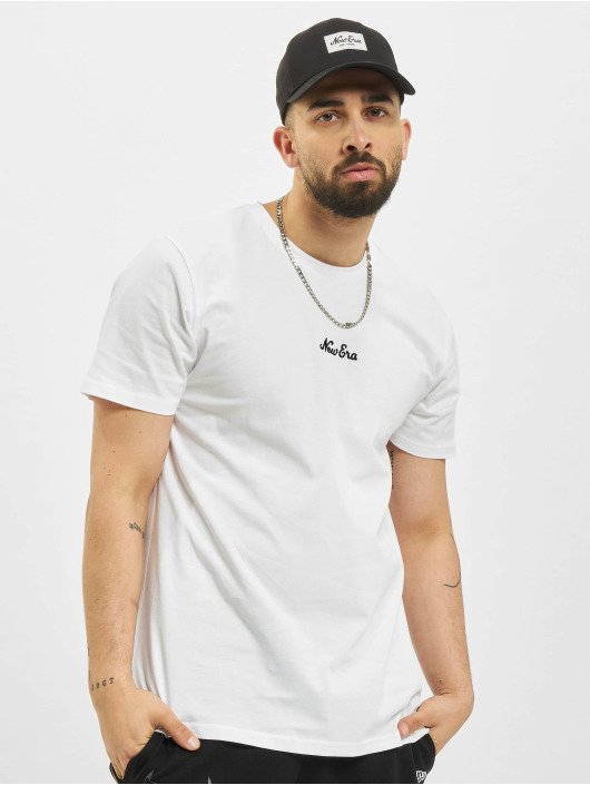 New Era T-Shirt Essential Script weiß