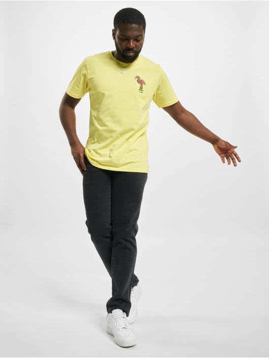 New Era T-Shirt Minor League Miami Beach Flamingos yellow