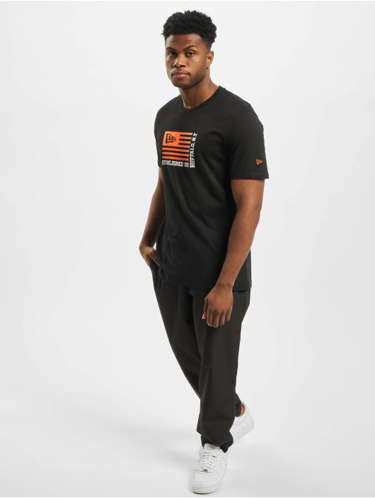 New Era t-shirt Flag zwart