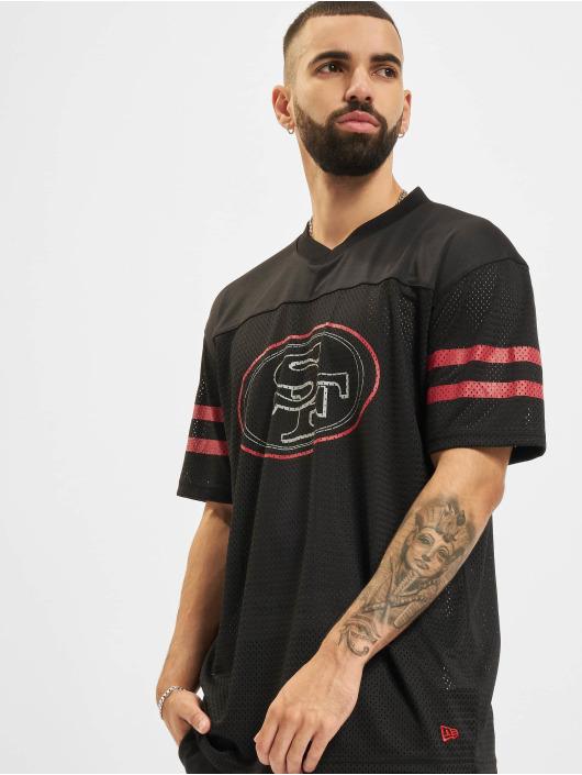 New Era t-shirt NFL San Francisco 49ers Outline Logo Oversized zwart