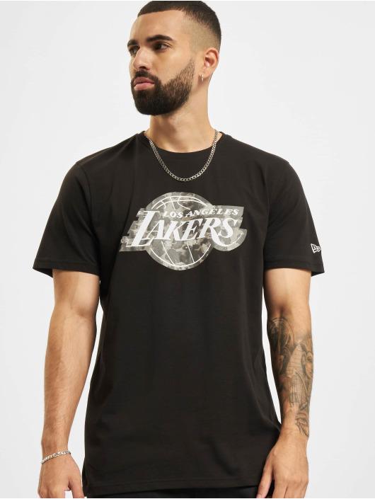 New Era t-shirt NBA Los Angeles Lakers Outdoor Utility Team Logo zwart
