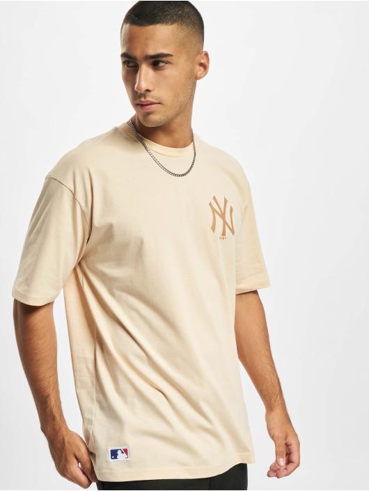 New Era T-shirts MLB NY Yankees Oversized Seasonal Color Blocking beige