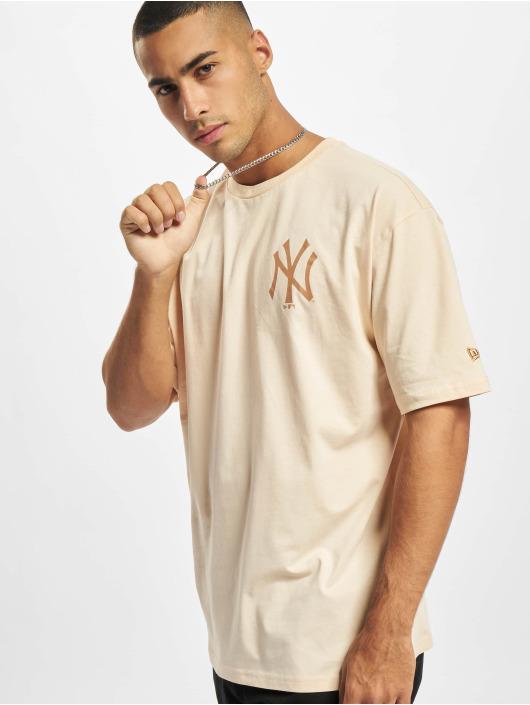 New Era T-shirts MLB NY Yankees Oversized Seasonal Color beige
