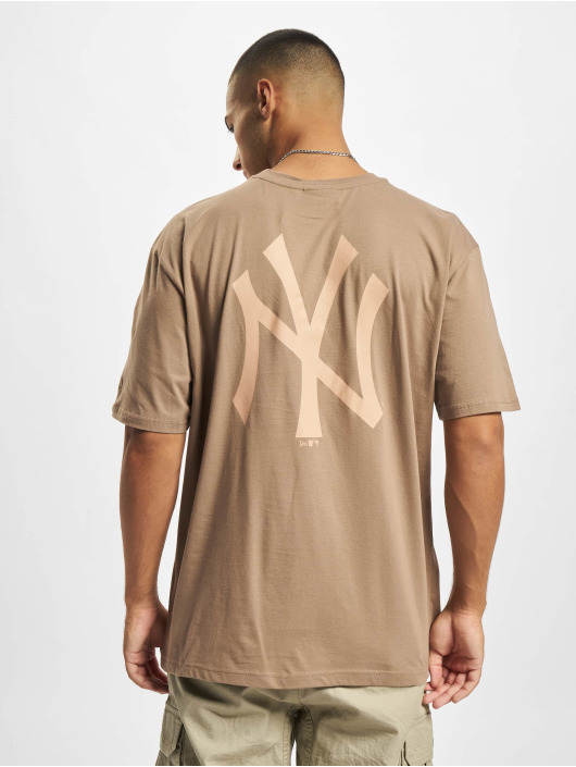 New Era T-shirts MLB NY Yankees Oversized Seasonal Color Blocking brun