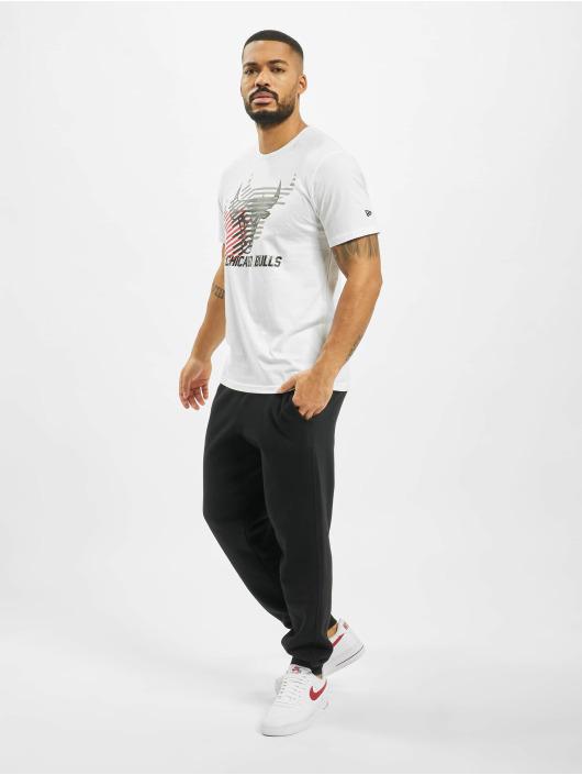 New Era T-shirts NBA Chicago Bulls Logo Repeat hvid