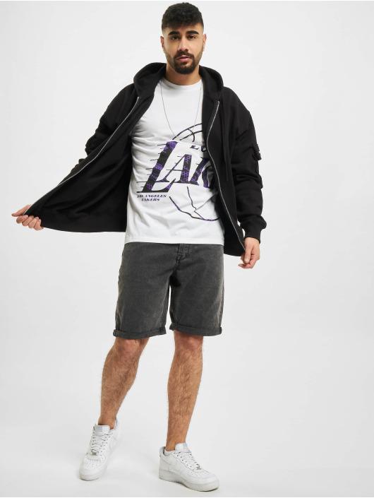 New Era T-shirts NBA Los Angeles Lakers Oil Slick Infill Logo hvid