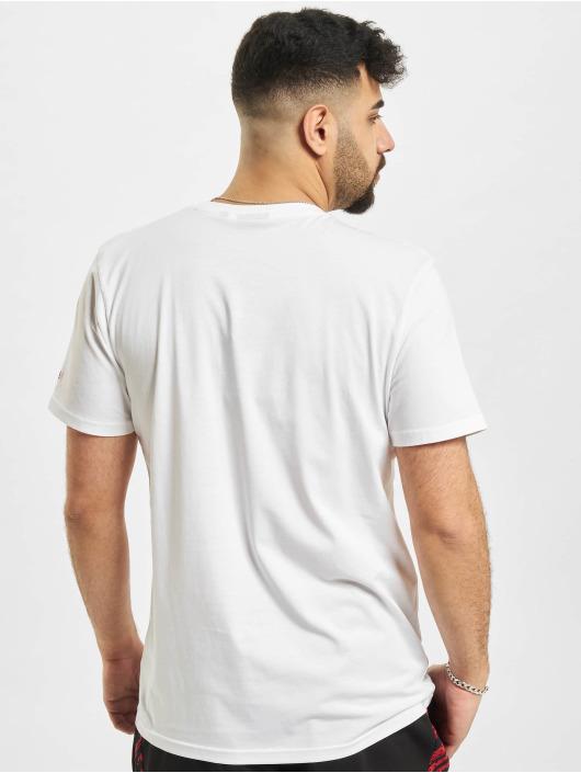 New Era T-shirts NBA Chicago Bulls Chain Stitch hvid