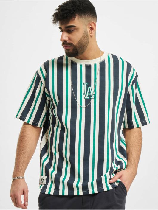 New Era T-shirts MLB Los Angeles Dodgers Oversized Stripe hvid