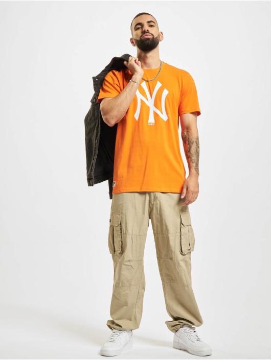 New Era T-shirts MLB New York Yankees Seasonal Team Logo orange