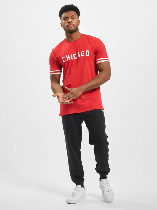New Era T-shirts NBA Chicago Bulls Wordmark rød