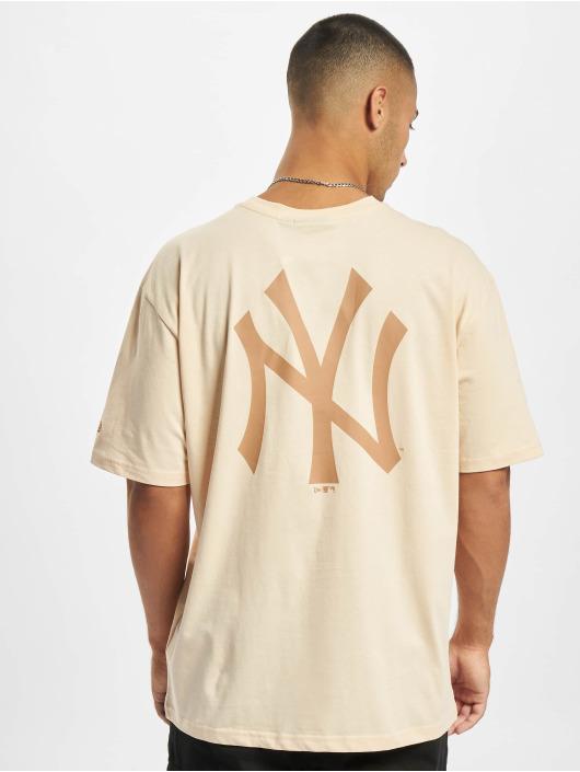 New Era T-Shirty MLB NY Yankees Oversized Seasonal Color Blocking bezowy