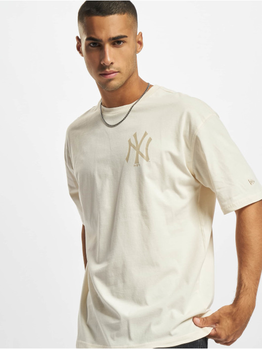 New Era T-Shirty MLB NY Yankees Oversized Seasonal Color bezowy