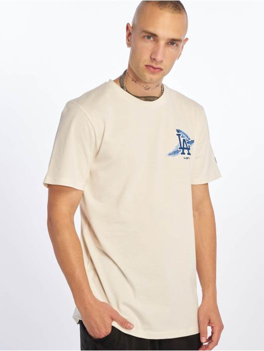 New Era T-Shirty MLB Los Angeles Dodgers Island Logo bialy