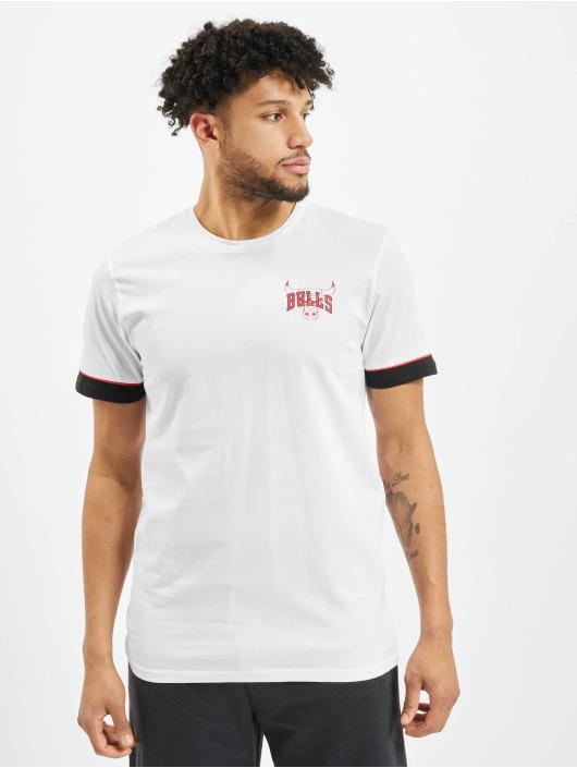 New Era T-Shirty NBA Chicago Bulls Stripe Piping bialy
