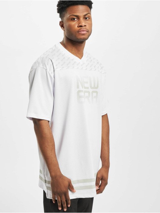 New Era T-Shirty Technical Oversized bialy