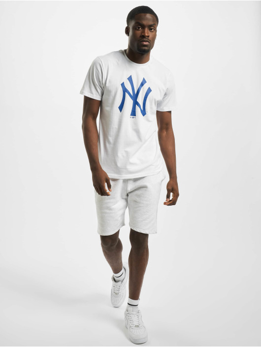 New Era T-Shirty NY Yankees Primry Contrast bialy