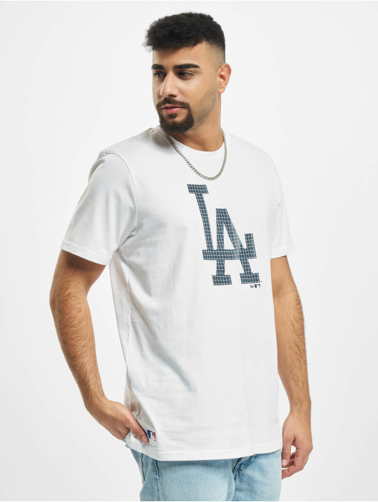 New Era T-Shirty MLB Infill Team Logo Los Angeles Dodgers bialy