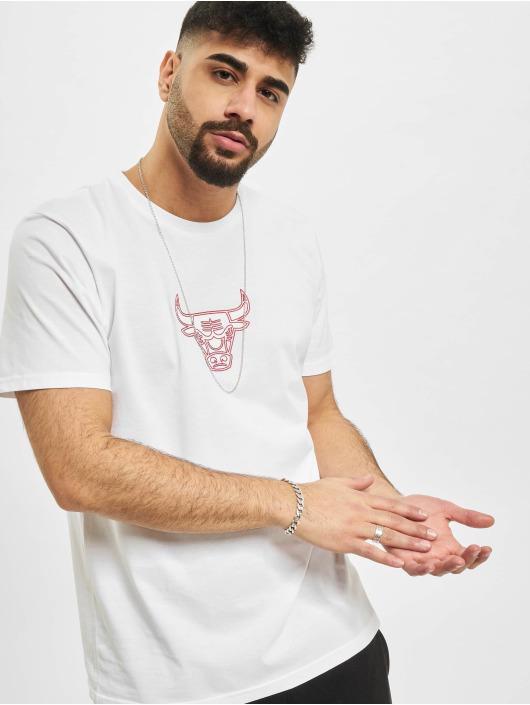New Era T-Shirty NBA Chicago Bulls Chain Stitch bialy