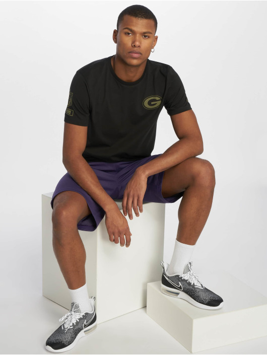 New Era T-Shirty Nfl Camo Collection Green Bay Packers czarny