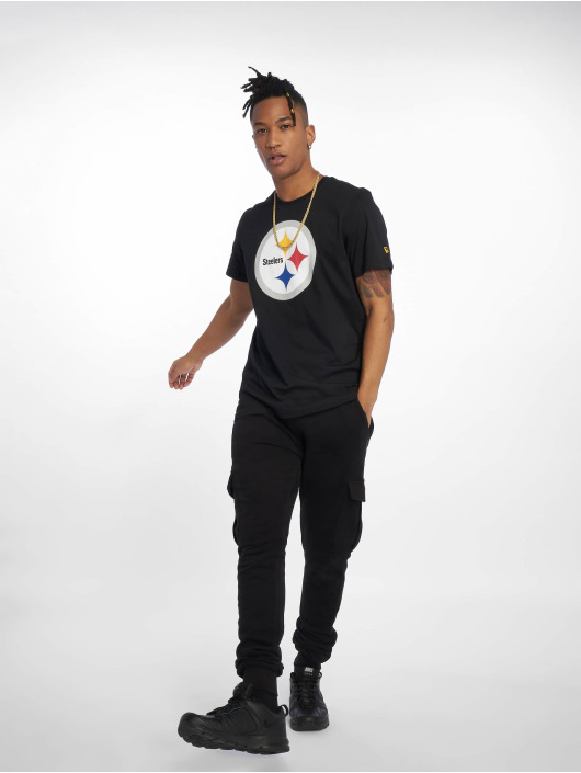 New Era T-Shirty Team Pittsburgh Steelers Logo czarny