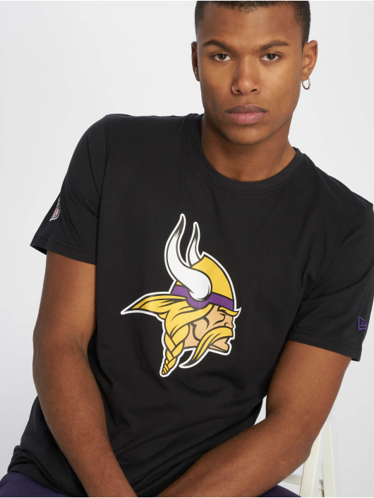 New Era T-Shirty Team Minnesota Vikings Logo czarny