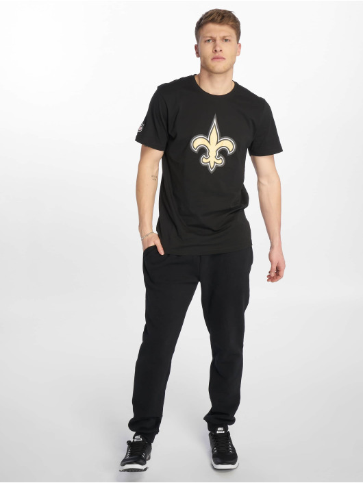 New Era T-Shirty Team Logo New Orleans Saints czarny
