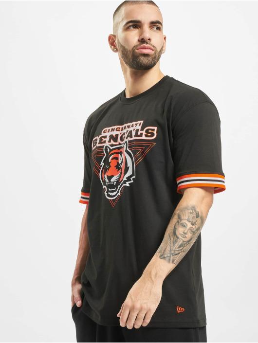 New Era T-Shirty NFL Cincinnati Bengals Stripe czarny