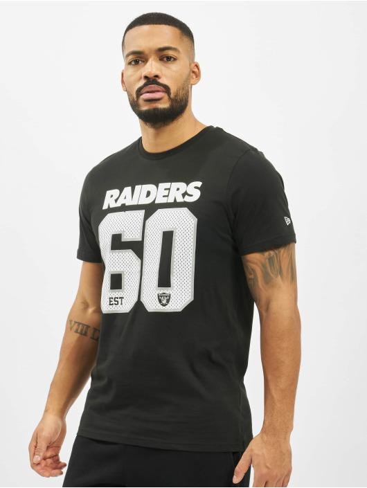 New Era T-Shirty NFL Oakland Raiders Supporters czarny