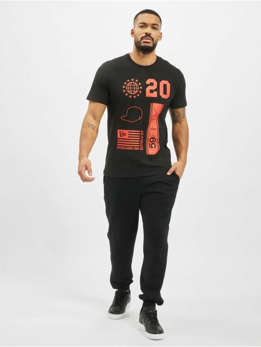 New Era T-Shirty Graphic czarny