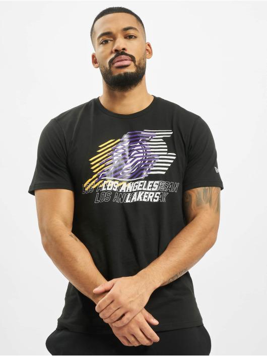 New Era T-Shirty NBA LA Lakers Logo Repeat czarny
