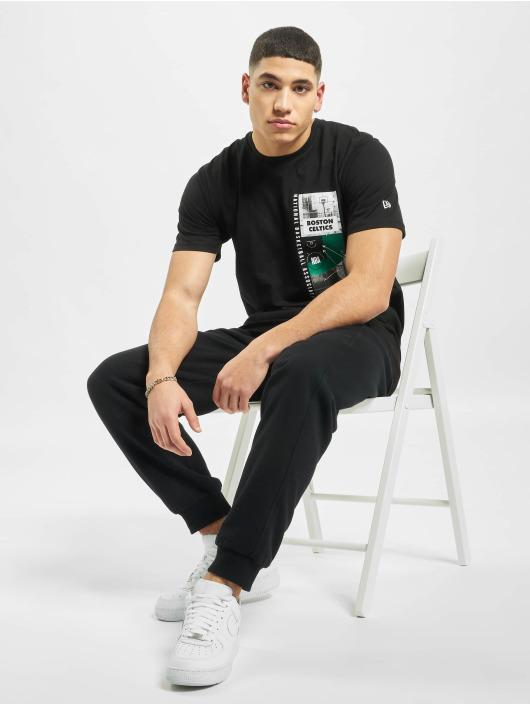New Era T-Shirty NBA Boston Celtics Photo Print czarny