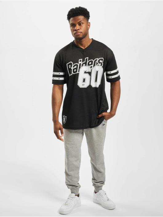 New Era T-Shirty NFL Oakland Raiders Stripe Sleeve Oversized czarny