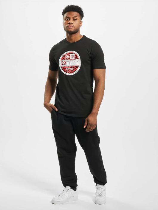 New Era T-Shirty Visor Sticker czarny