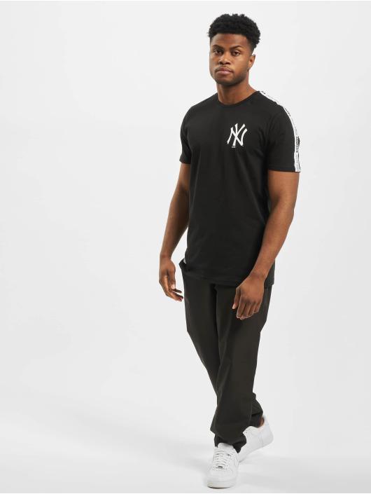 New Era T-Shirty MLB NY Yankees Sleeve Taping czarny